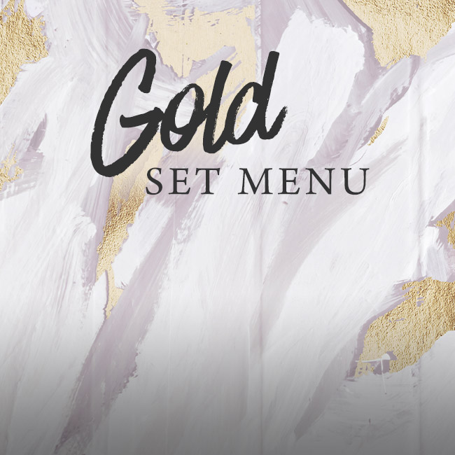 Gold set menu at The Plough