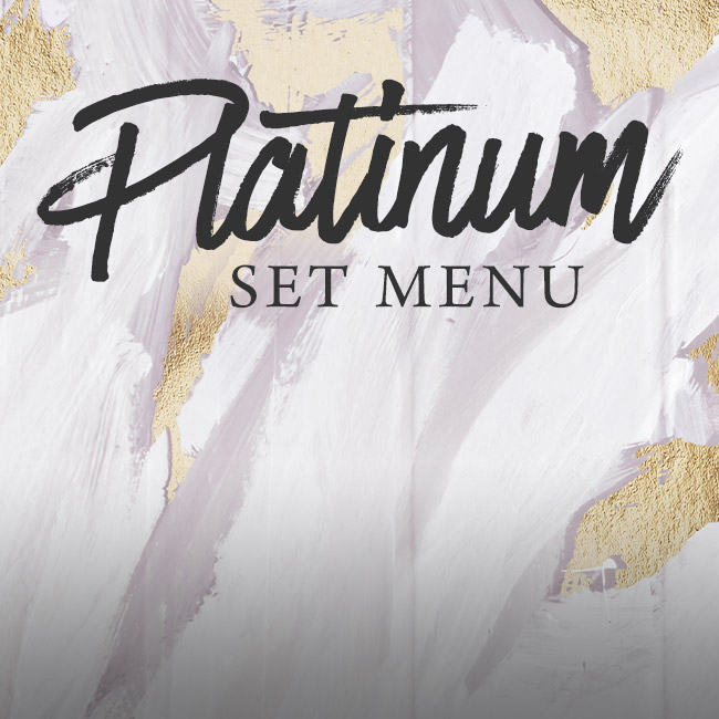 Platinum set menu at The Plough